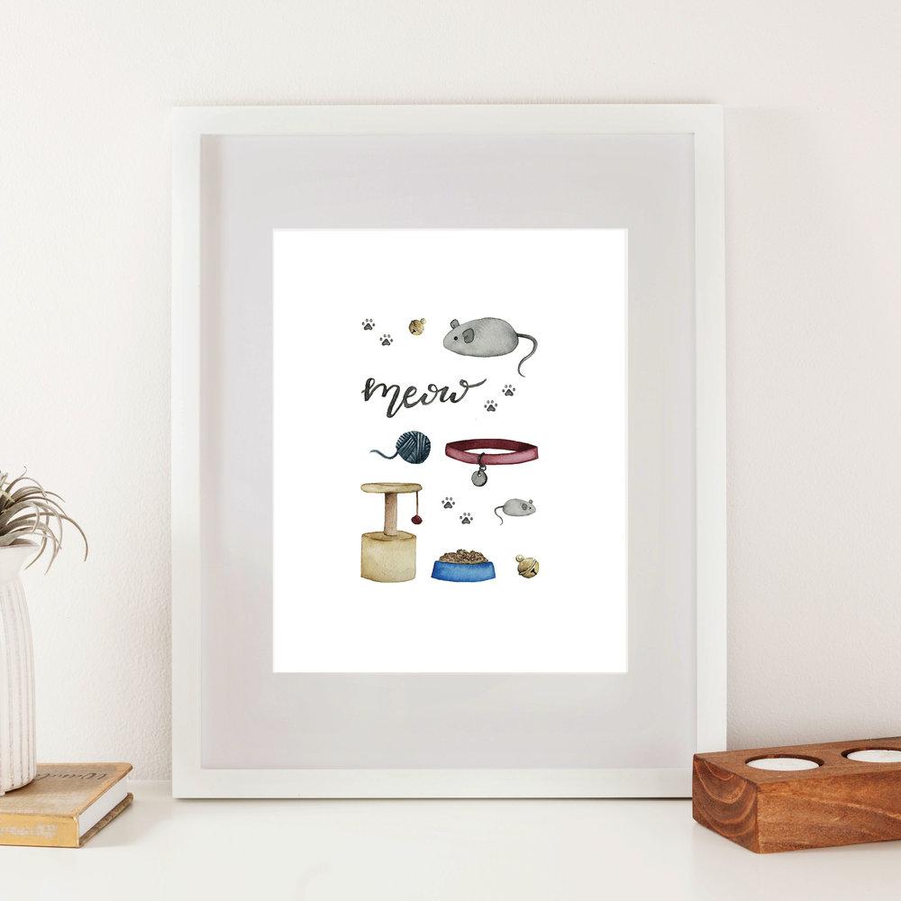 Cat Accessories Print - Starting at $24.00