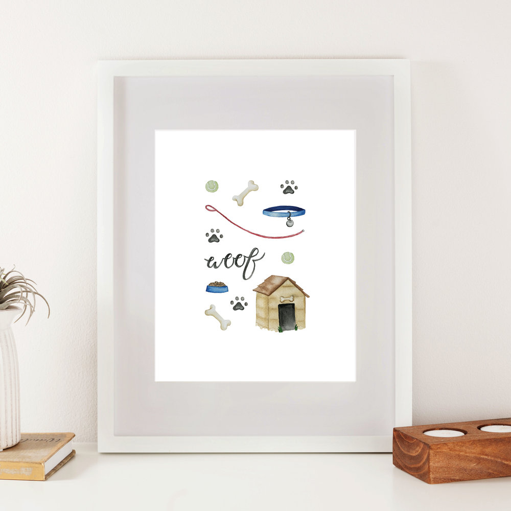 Dog Accessories Print - Starting at $24.00