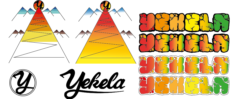 'YEKELA' Vector Illustrations using Adobe Illustrator