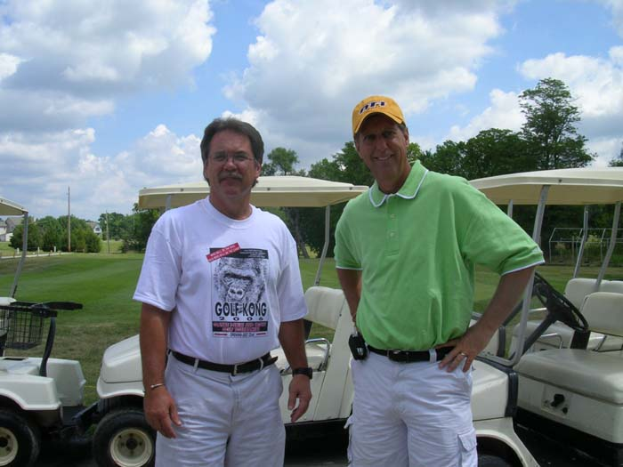 Hank Kramer (left), and  Gary Roles at 2006 Olathe T-Shirt Golf Tournament