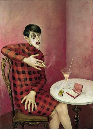 Otto Dix's portrait of Sylvia von Harden, 1926.