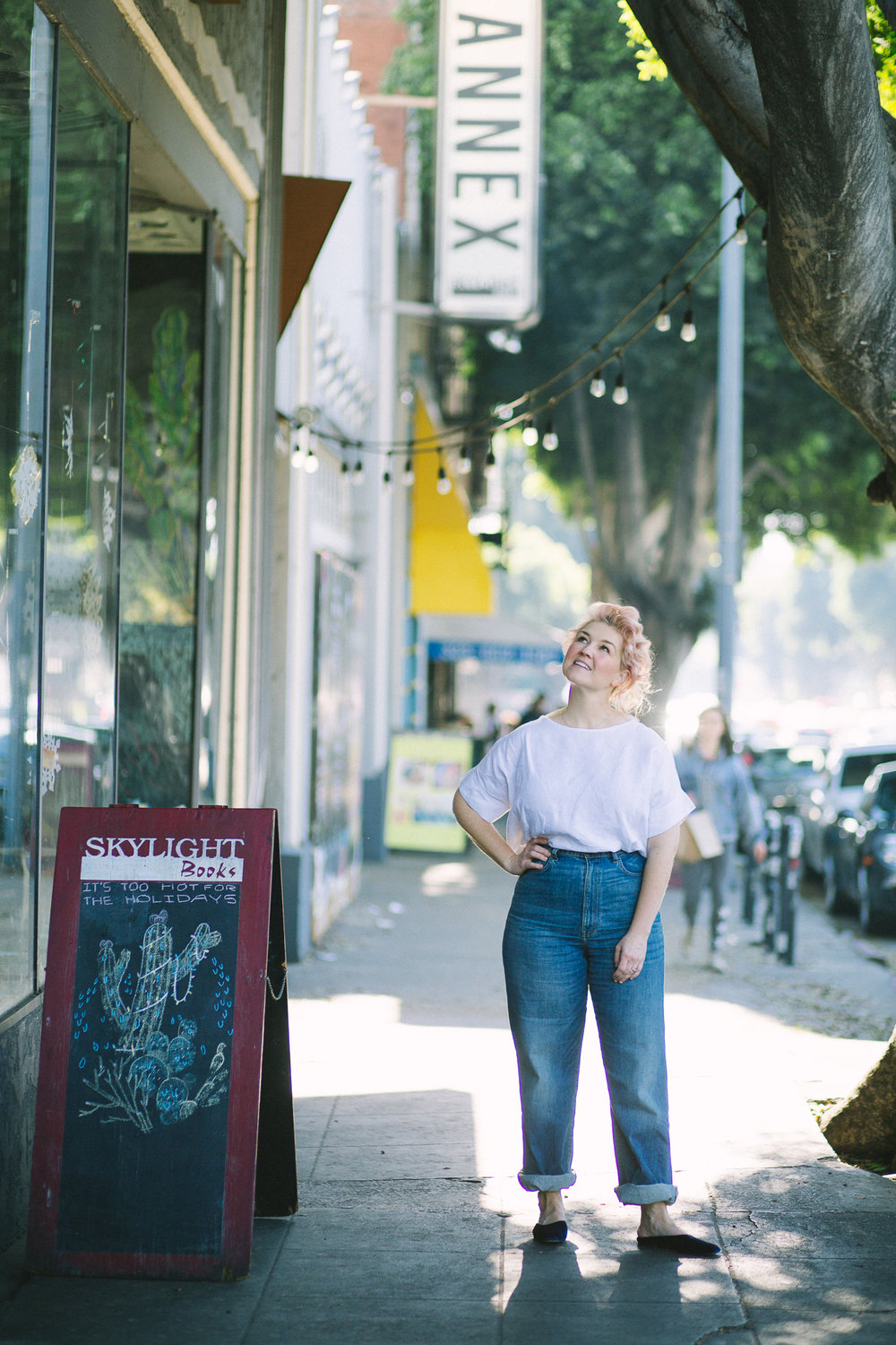 Jeni outside of  Skylight Books  in Los Feliz