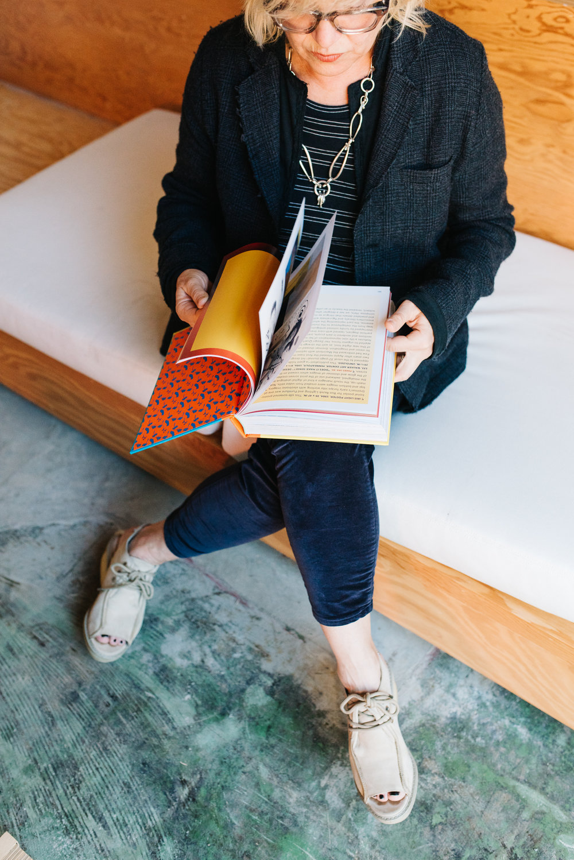 Girls at Library Barbara Bestor Reads