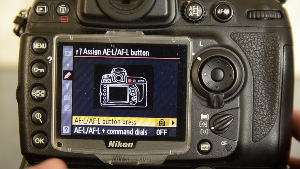 How to set up back button focus - Nikon -