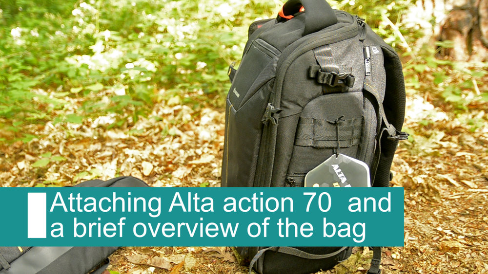How to attach Alta action 70 tripod bag to Alta Rise camera bag -