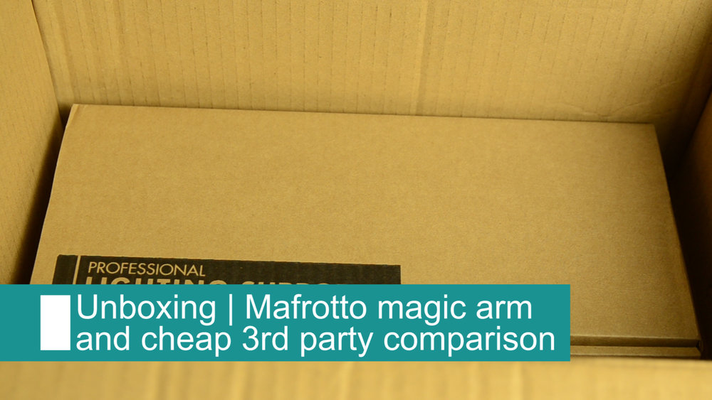 Manfrotto magic arm unbox and comparison -
