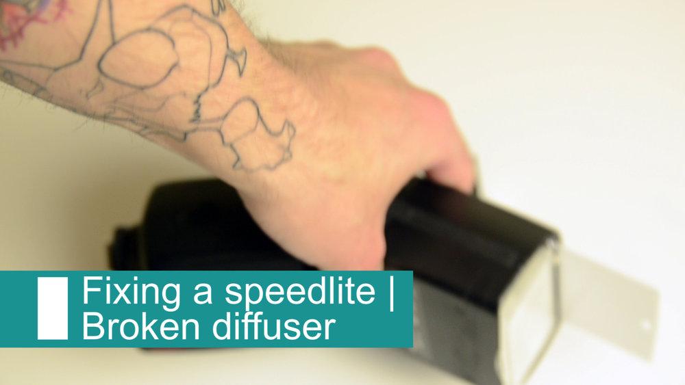 How to fix a broken speedlite diffuser -