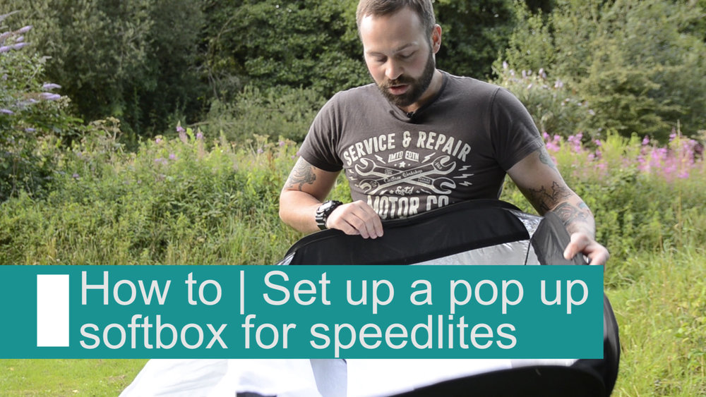 How to set up a pop up softbox for speedlites flash -