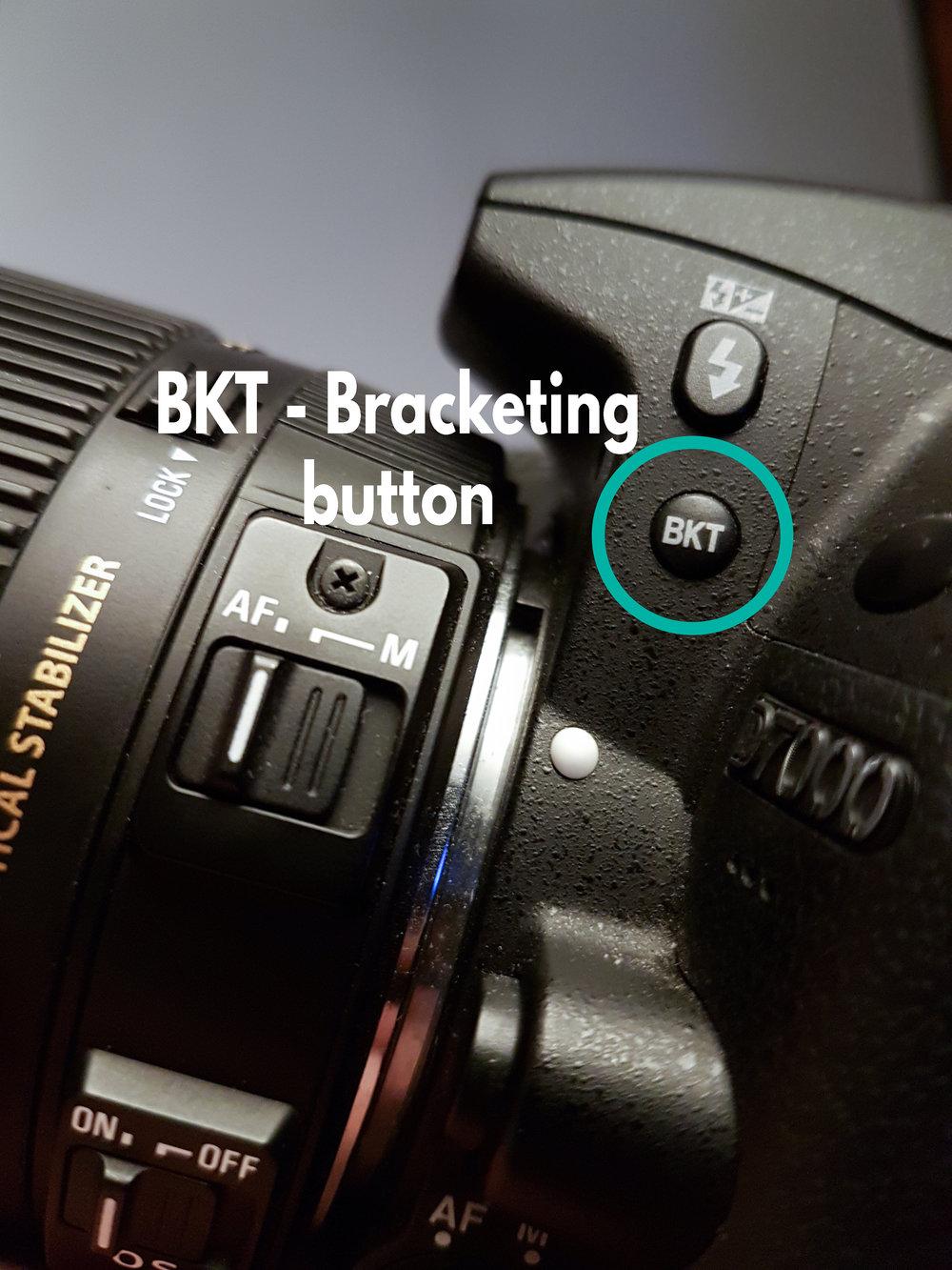 Bracketing button - BKT/bracketing button.