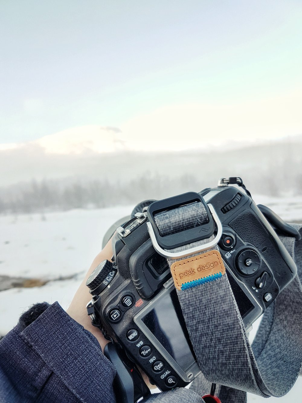 Peak design slide lite camera strap in Iceland