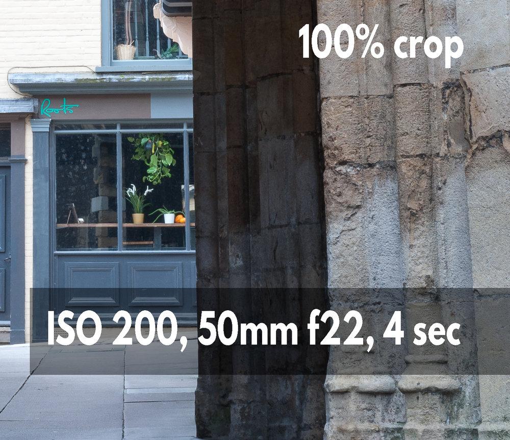 ISO 200 crop example photo Nikon D700