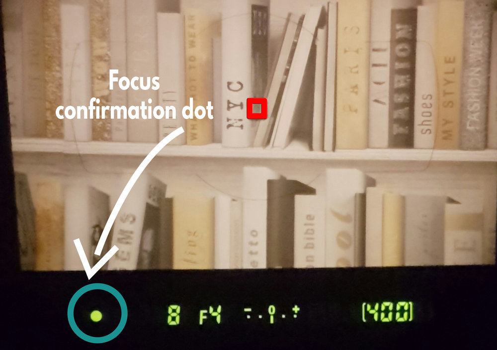 Focus confirmation dot