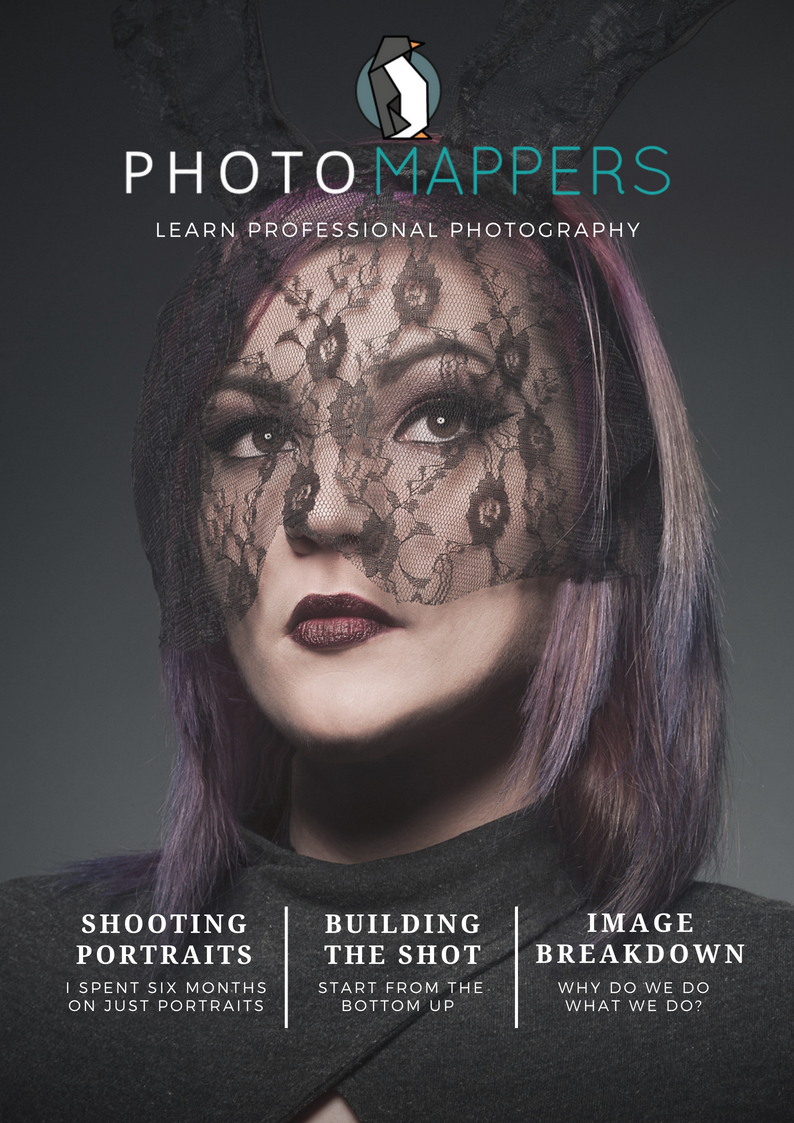 Edition 5 - Edition 5 of Photomappers magazine comes full circle from the start of my focus in portrait shooting. I share some of what I've learnt in the past year, breakdown some of the thought process that goes into an image, and build a shot from the bottom up. Use some of the ideas in this edition to improve your photography. Instantly.