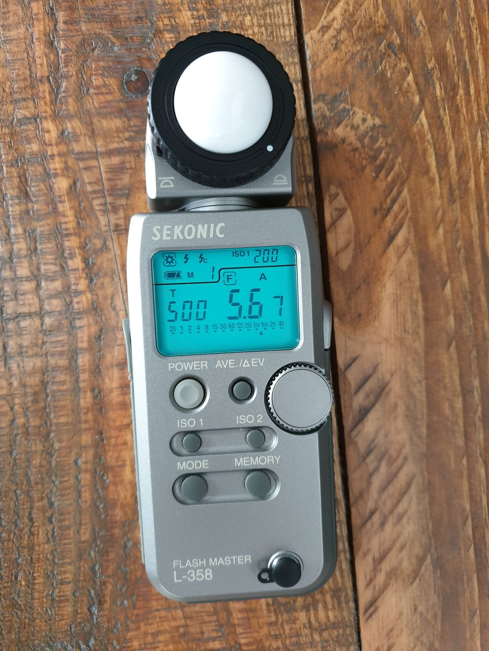 Sekonic L358 light meter