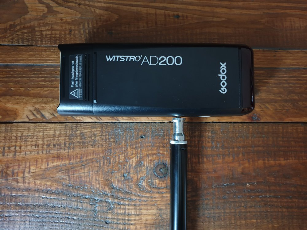 Godox AD200 speedlight flash mount. These suck, so don't use them!