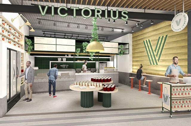 VICTORIUS x ATELIER FILZ  Hier avait lieu le lancement médiatique du nouveau marché alimentaire dans Les Galeries de la Capitale, nommé les Galeries Gourmandes. Dès l'automne, vous y trouverez la toute première boutique @victorius_saucissier , avec qui nous travaillons depuis plusieurs semaines afin de développer l'expérience globale.  Merci à @vincblackburn et toute son équipe de nous faire confiance. On vous laisse avec l'image du concept dévoilée hier!  Rendez-vous saucisses et hot-dogs cet automne!  #hotdog #sausage #atelierfilz #interiordesign #concept #experiencedesign #commercial #galeriesdelacapitale #galeriesgourmandesqc