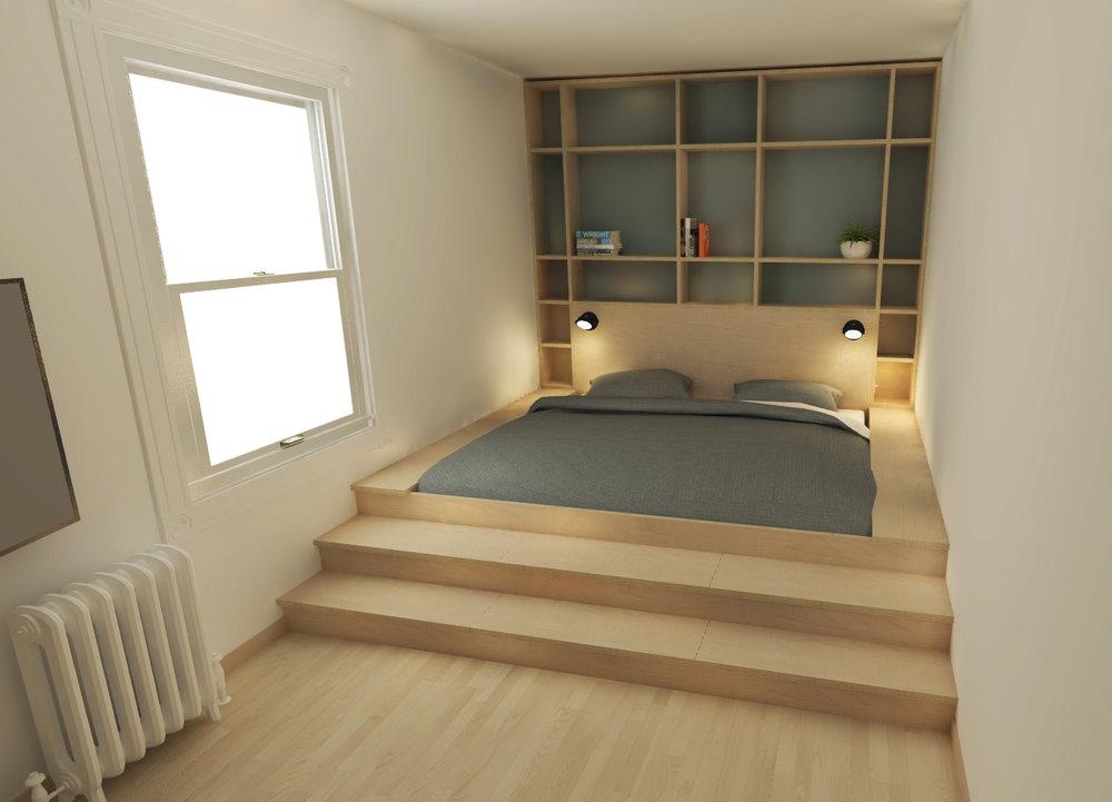 Chambre principale - Image de synthèse