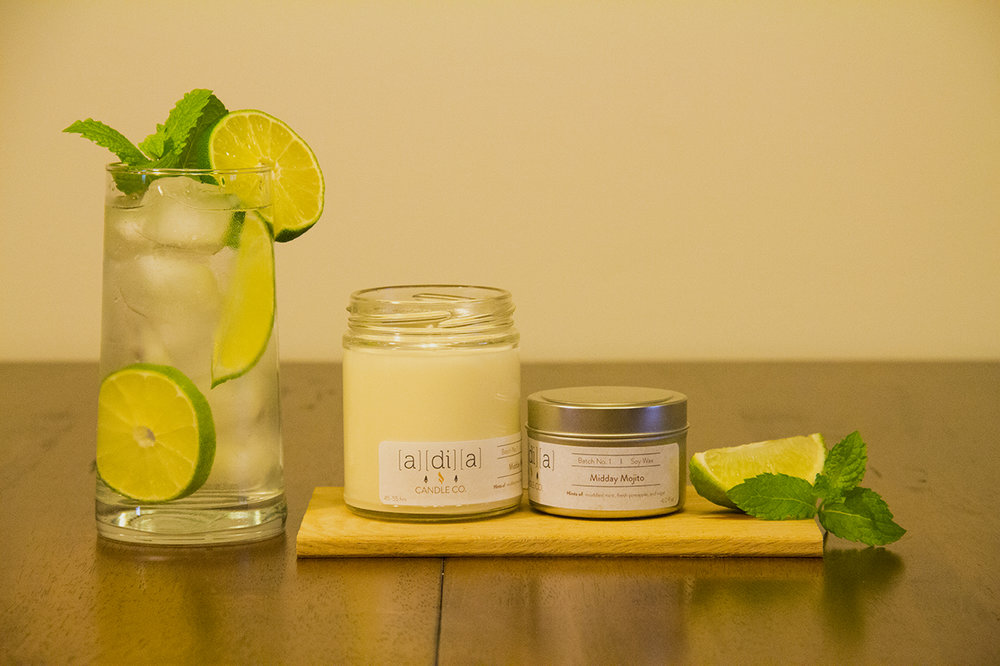 Midday Mojito - A clean blend of mint, sugar, lime, and pineapple that freshens any room.