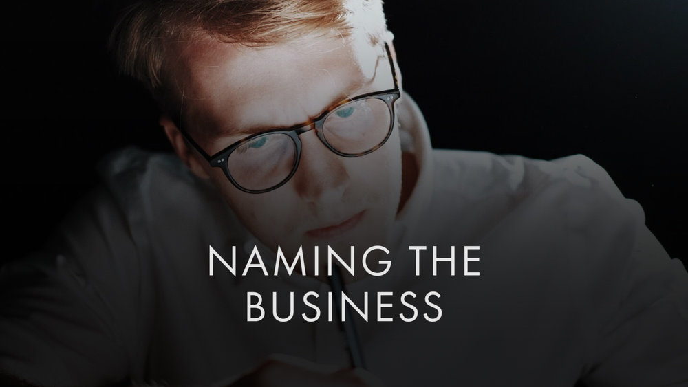 Naming the Business