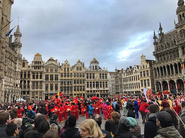 #ChineseNewYear celebration in #Brussels. #Globalization isn't dead yet! #notdeadyet