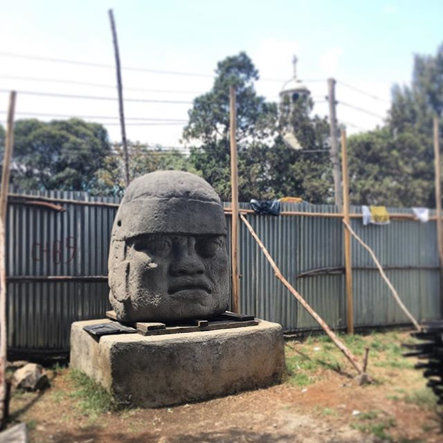 Olmec Head. A gift from the people of #Mexico to the people of #Ethiopia (2010). #statetostategifts