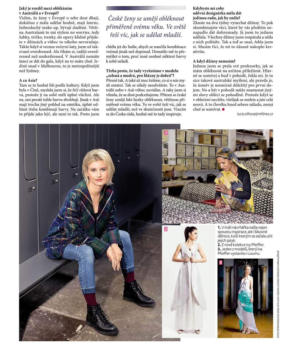 Iva Pfeiffer Ona Dnes Magazine Article.jpg