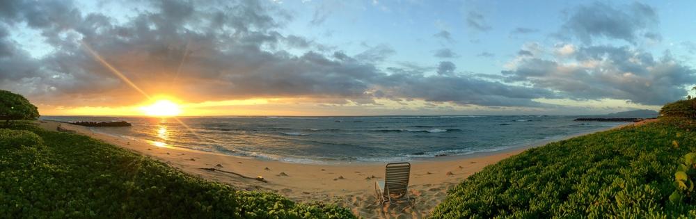 Sunrise from Waipouli Beach Resort in Kapa'a