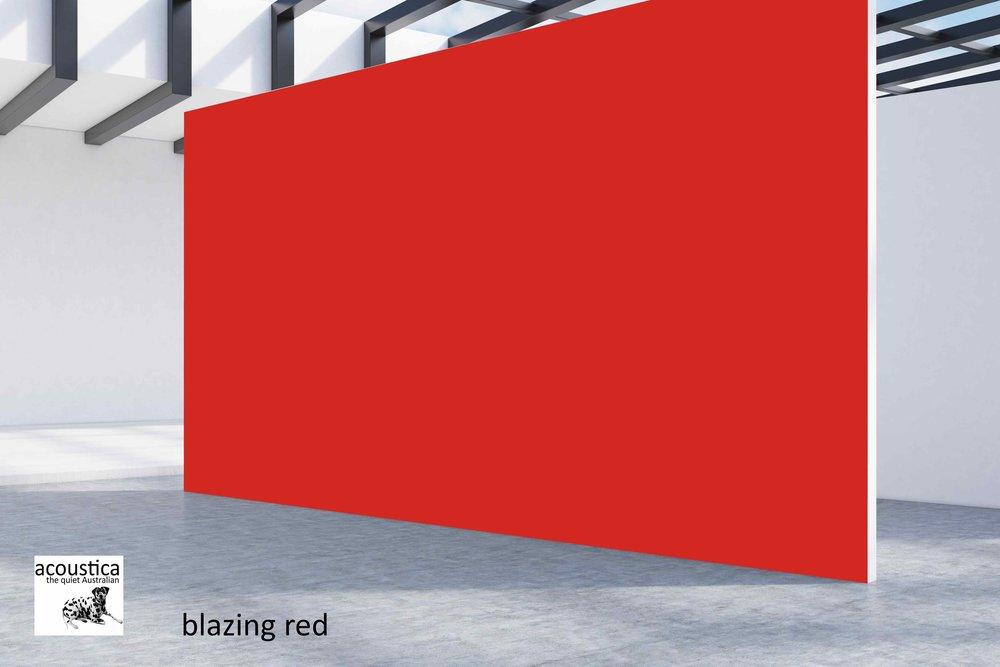 blazing red