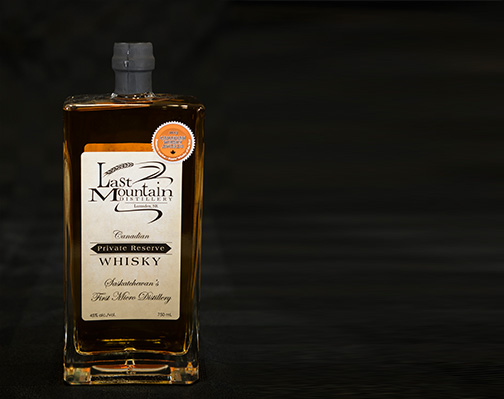 Last Mountain Private Reserve Whisky - award winning sipping whisky
