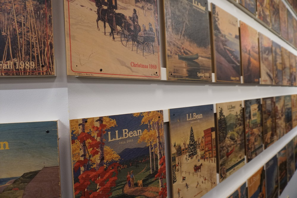 I loved this wall of (one of two) of catalogue covers from the time the company was founded in 1912. What?!