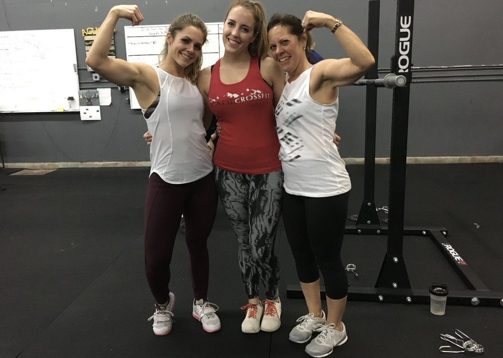 Post WOD photo with my mom and little sister. So much pride. And all my clothes and shoes:p