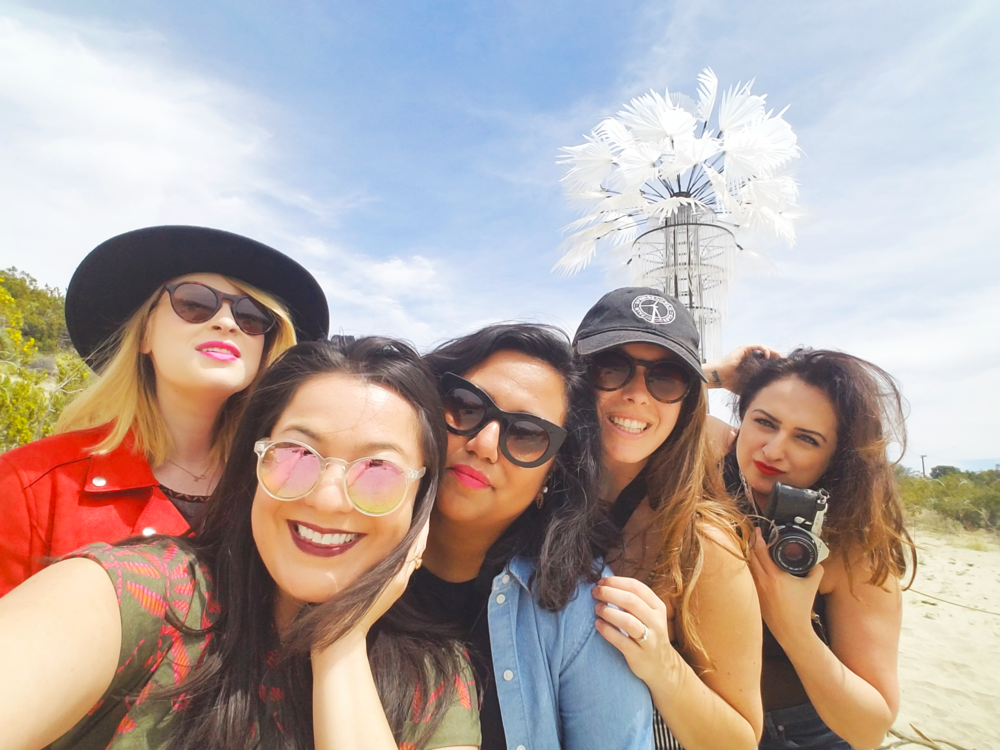 Selfie Moment with Rachel Fishman, Amy Nadeen Avila, Diane Lindquist (GMD Founder), Brittney Backos and Marina Murad in front of Ghost Palm