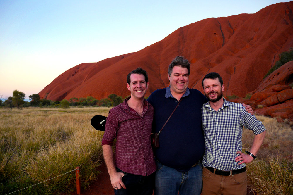 The CRCAH-MADE team, Uluru at sunset