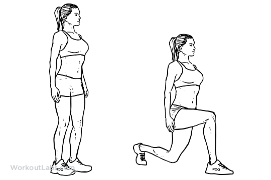 Walking Lunges 3 sets of 20 with each leg.