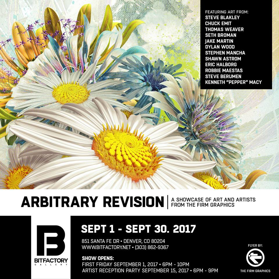 & by the way,The Firm is hosting - an art show on September 15 at the Bitfactory Gallery.