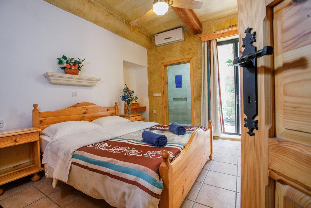 Master bedroom with ensuite walk-in shower