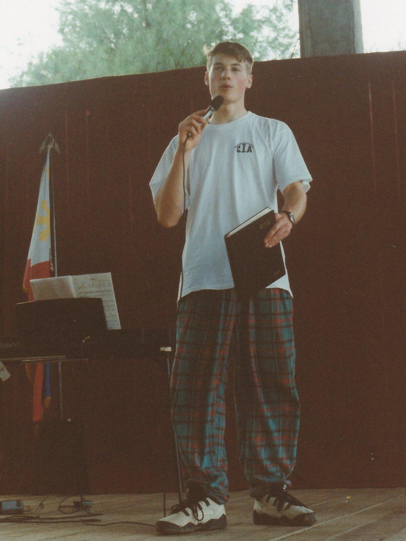 Leadership in action. Matt speaking in The Philippines circa 1994/95. Source:Matt Lamason