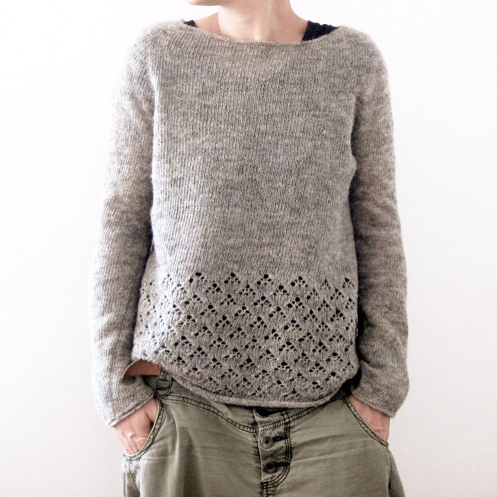 Amory, a jumper designed by Isabell Kraemer in Garthenor's Shetland laceweight yarn.