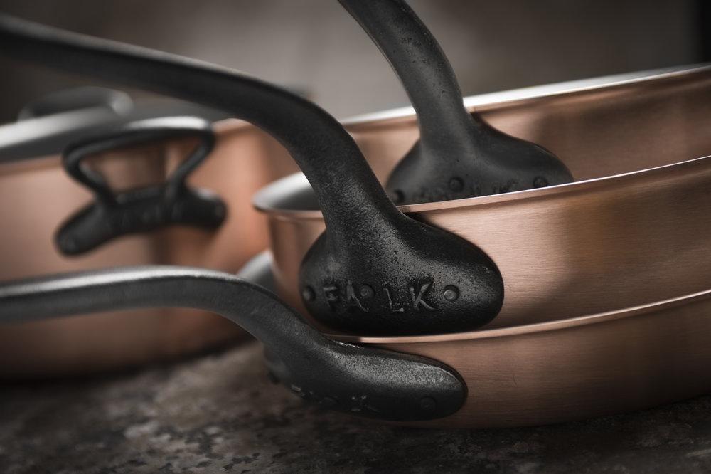FALK Culinair's Classical Range has cast-iron handles