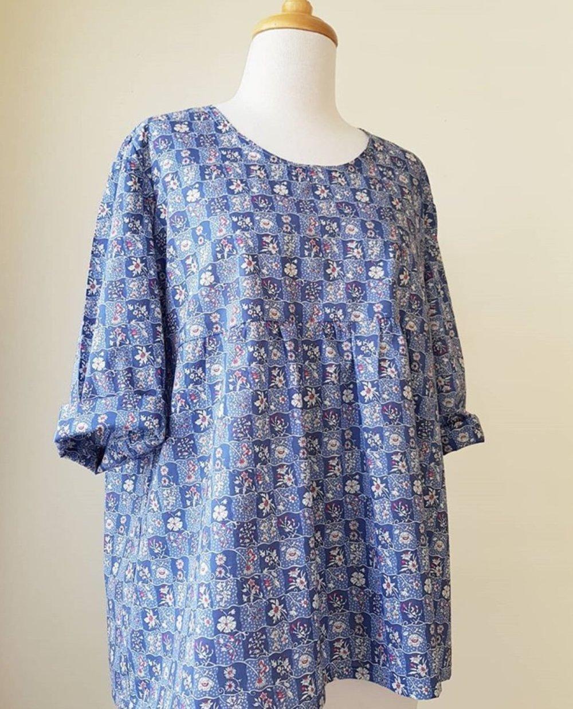 The Calendar Dress pattern makes a nifty shirt, too.
