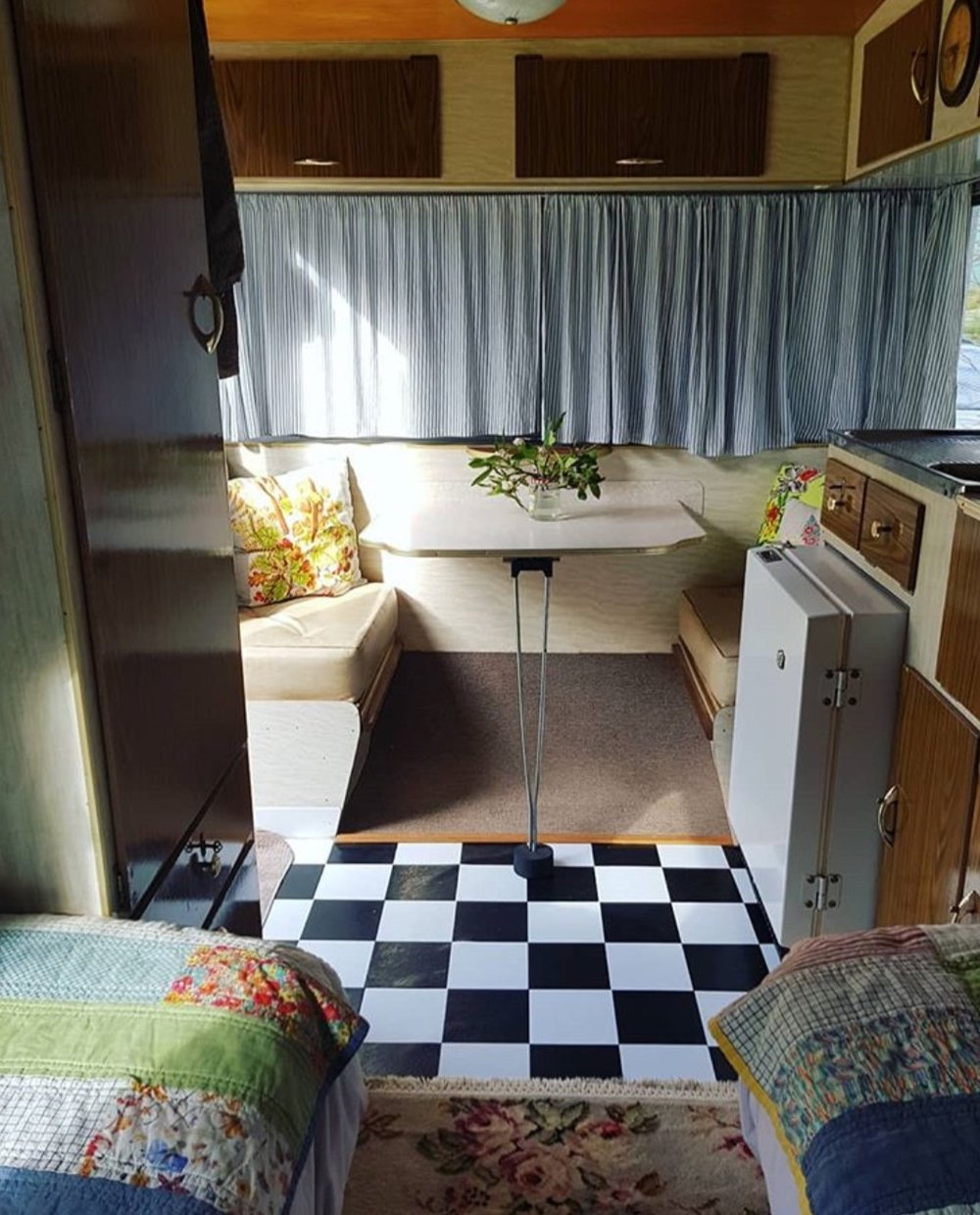 Quilts feature in the family caravan, too.