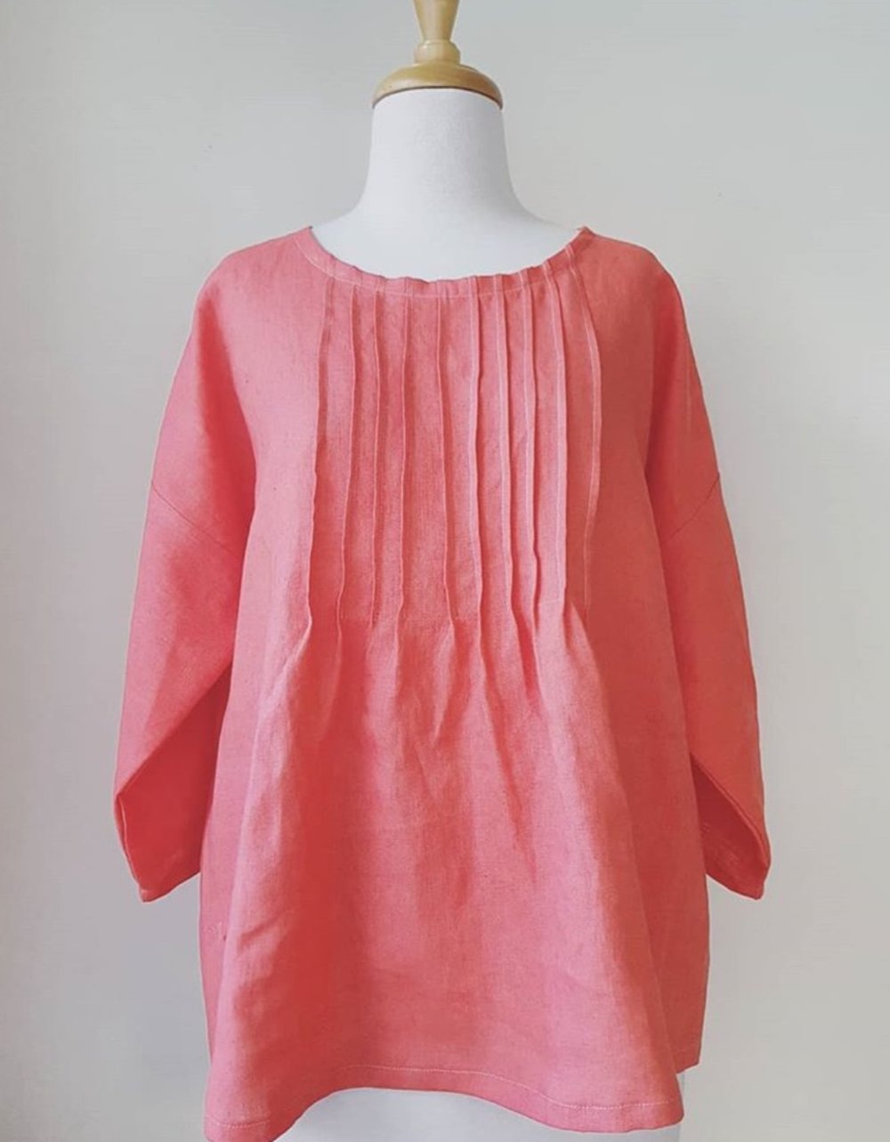 The Friday Shirt in a lovely coral linen