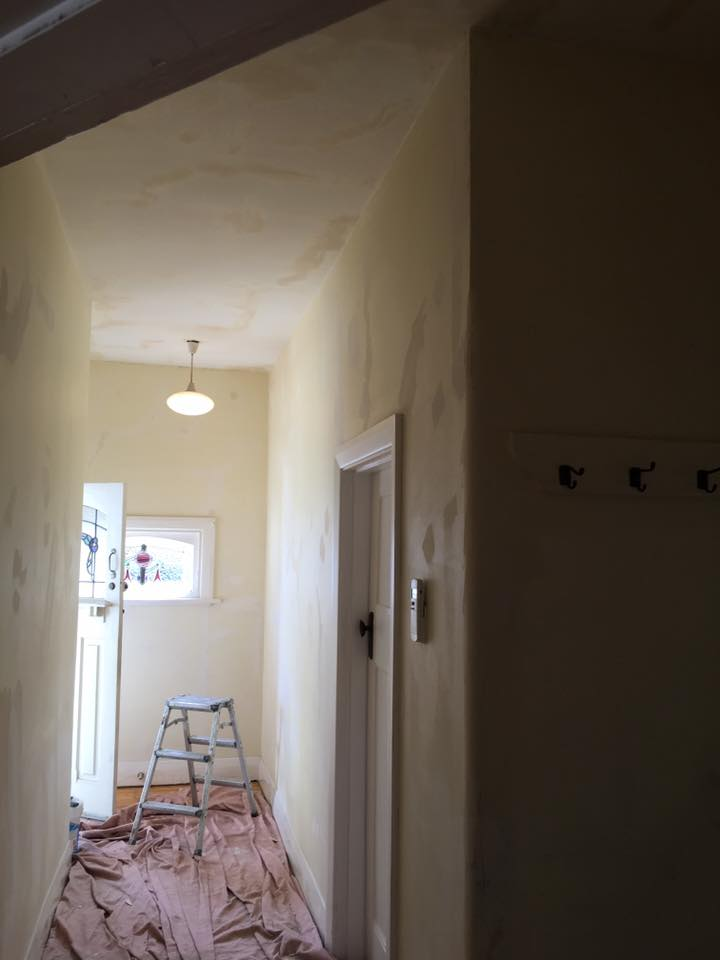 Hallway Before Being Painted