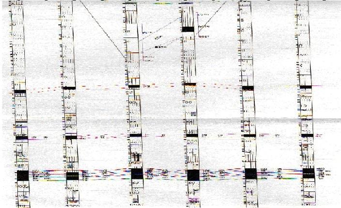 Схемы скважин. Черным выделенызоны с содержанием угля на разных глубинах.