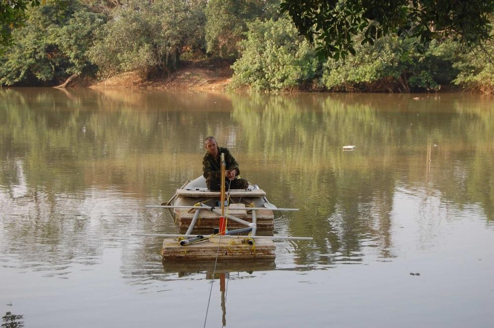 С георадаром на реке