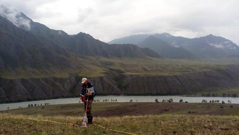 Field work with georadar