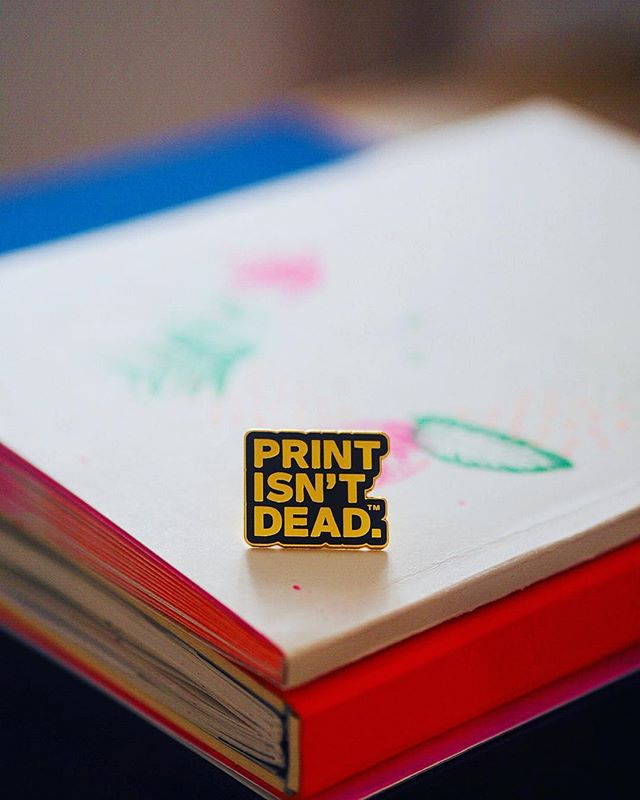Thank you for my golden #printisntdead pin, it's an honour to be an official @peopleofprint member.