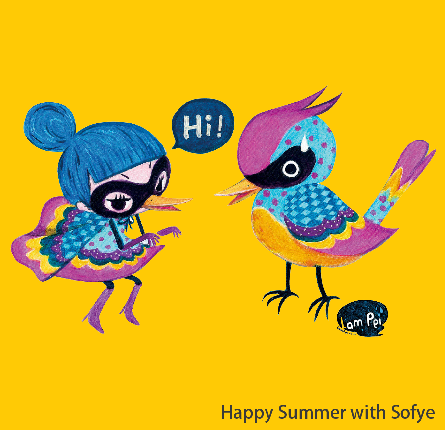 """Happy Summer with Sofye """"Flying Sofye"""", created by a local illustrator Lam Pei, will be here at Lai Yuen Super Summer 2016 to share the happiness and excitement with you. A large-scale """"Flying Sofye"""" installation art will be installed at the entrance to greet all visitors. Visitors can view this attraction for free."""