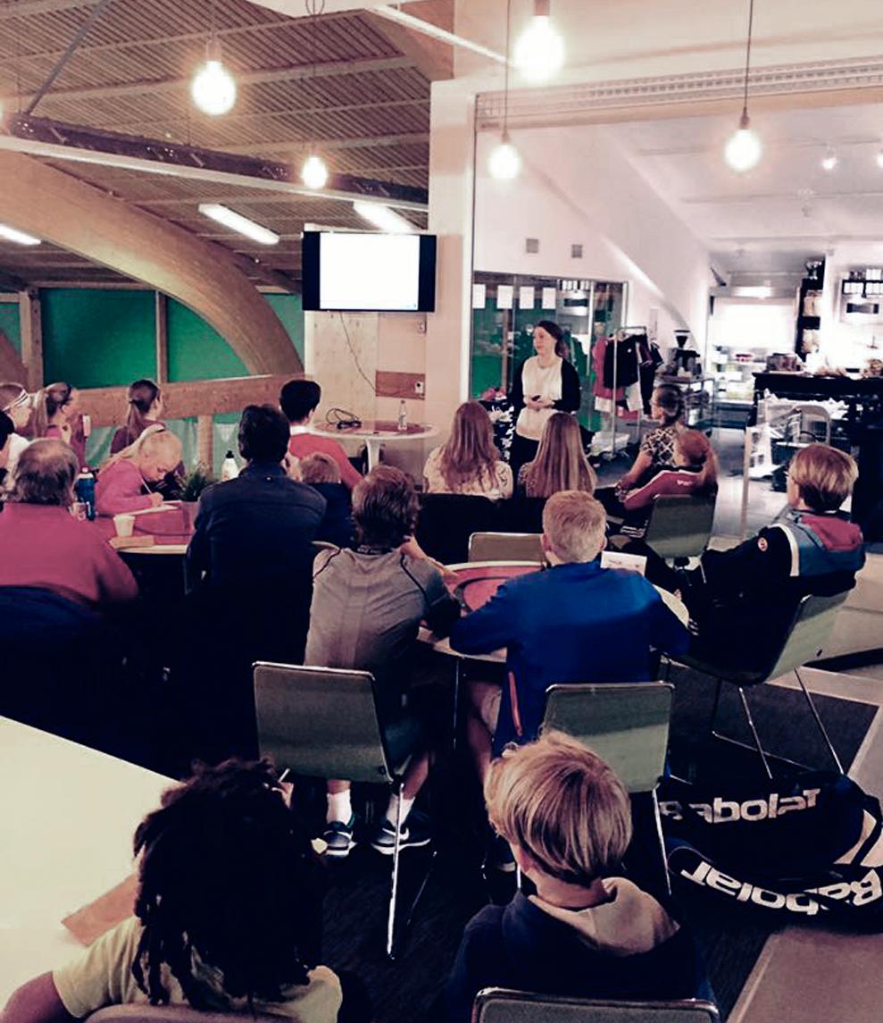 Föreläsning på Gustavsbergs Tennisklubb (2016)