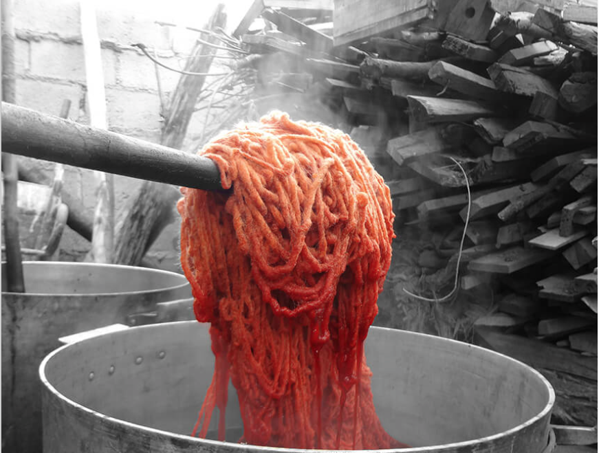 wool dyeing process